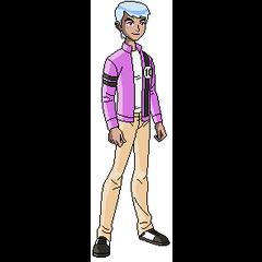 Esto no es una pose mía, sino que así sería Albedo en verdad, con los colores opuestos a los de Ben (yo solo invertí los colores)