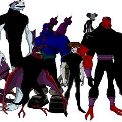 La liga del mal al principio de la serie
