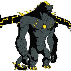 Biosaurio (Puede crear varias máquinas como Rex. Tiene superfuerza. Es muy inteligente. Si una máquina es destruída se regenera. Esta constituido por nanochips. Se protege de la energía con el escudo que tiene en la barriga. Puede lanzar rayos de energía y relámpago)