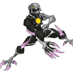 Calavera Brillante (Puede robar la vida de los demás, Tiene una fuerza descomunal, Tiene garras afiladas, Asusta con su aspecto).