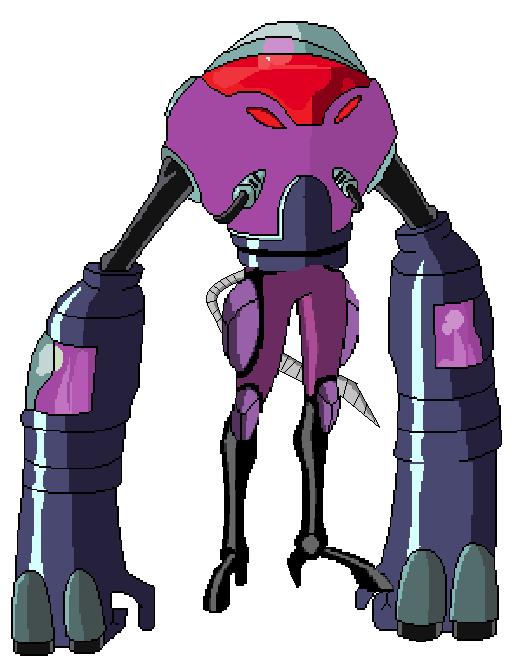 Robot gigante de psychobos y cerebro
