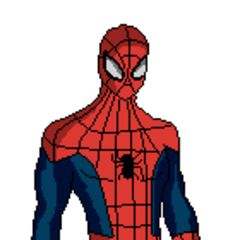 Ultimate Spiderman pose hecha por mi