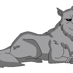 Lobo (Justica Joven) acostado hecho por mi