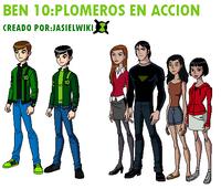 Logo official de ben 10 plomeros en accion