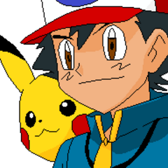 Ash y Pikachu en Teselia