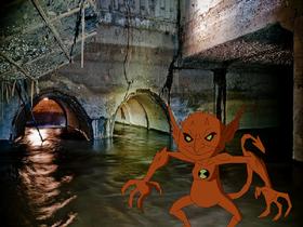 Jury Rigg viendo los dos tuneles