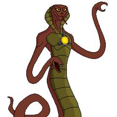 RickSerpent (Puede lanzar Veneno de su Boca,Estrangular a cualquier persona con su Cola, Puede excavar bajo Tierra)