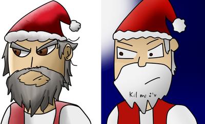 Santa Antes y Despues