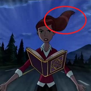 Włosy Gwen lecą w innym kierunku