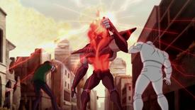 Alpha Omega electrocutando a Rex