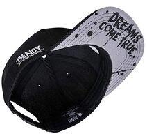 Bendy underbill of ink spillage hat