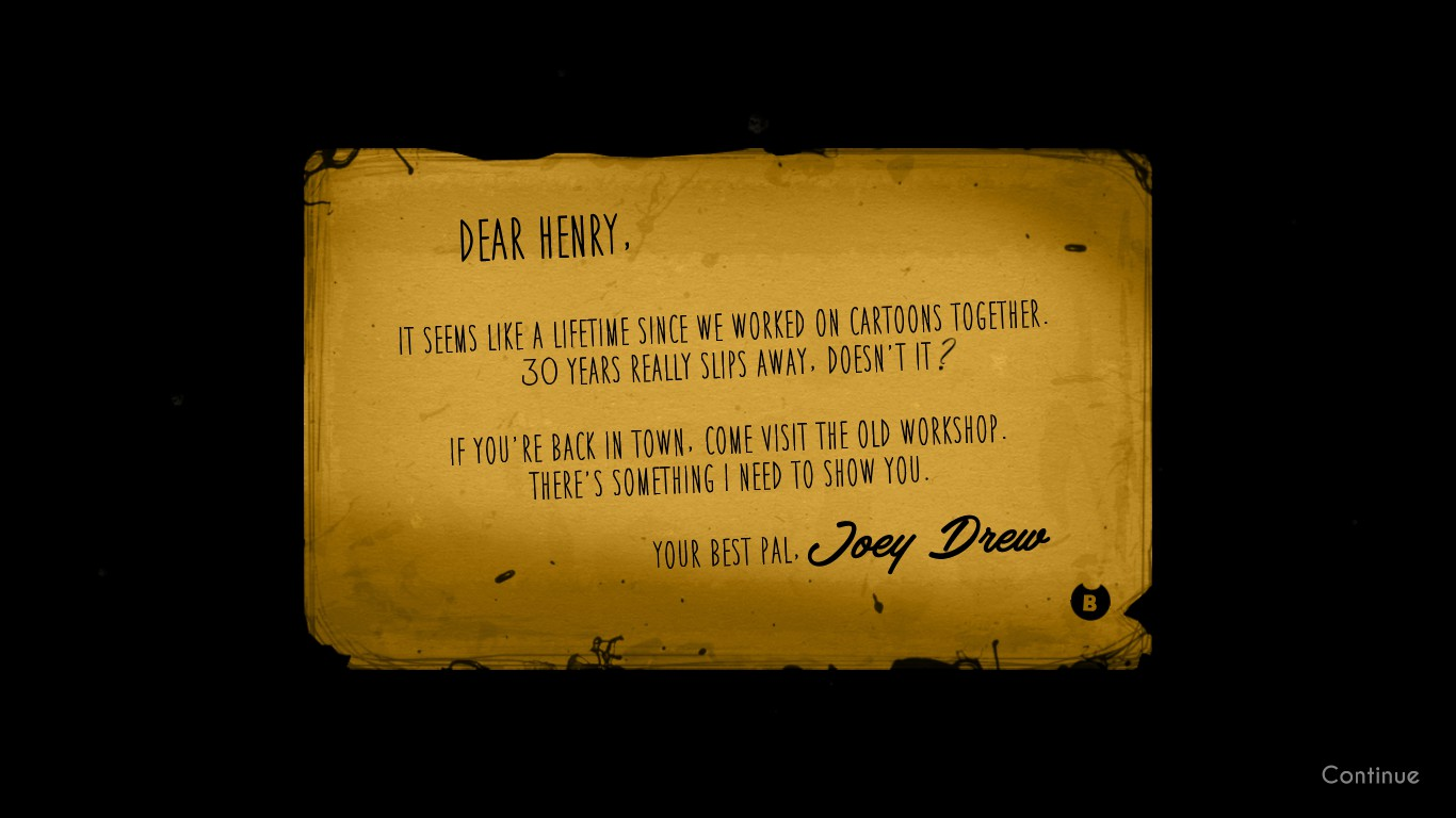 Joey S Letter Bendy And The Ink Machine