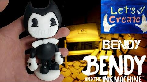 Making Bendy (BENDY AND THE INK MACHINE) - Polymer Clay Cold Porcelain