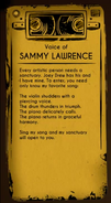 Voice of Sammy lawrence