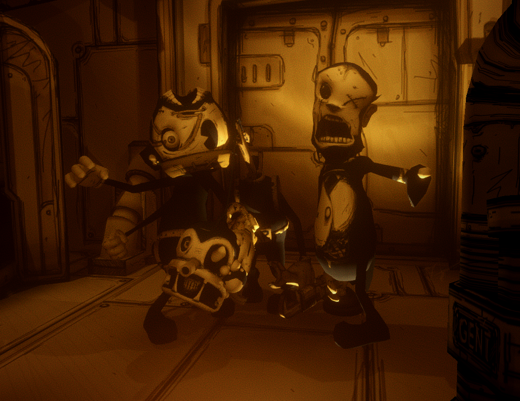 the old gang bendy and the ink machine wiki fandom powered by wikia