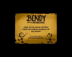 Bendy and the Ink Machine Demo Ending