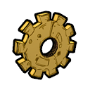 Collectable gear icon