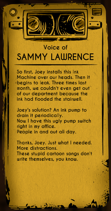 Sammy Lawrence Bendy And The Ink Machine Wiki Fandom