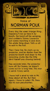 Voice of Norman Polk