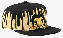 Bendy Sepia Peaking Snapback Hat