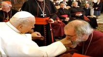 Rowan Williams Arcybiskup Canterbury (2003-2012) przed Papieżem Janem Pawłem II