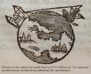 Obraz z 1550 roku , edycji De sephaera , astronomicznego podręcznika Johannesa De Sacrobosco