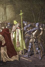 Sciarra Colonna Uderza w twarz Papieża Bonifacego VIII