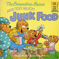 Berenstain bears and too much junk food cover