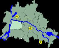 Lage Bezirk Charlottenburg Wilmersdorf in Berlin