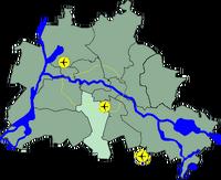 Lage Bezirk Tempelhof Schoeneberg in Berlin