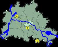 Lage Bezirk Friedrichshain Kreuzberg in Berlin