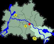Lage Treptow in Berlin