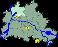 Lage Bezirk Reinickendorf in Berlin