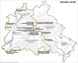 Karte berliner mauer