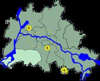 Lage Bezirk Steglitz Zehlendorf in Berlin