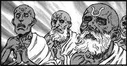 Hechieros kushanos controlan pisacha cocodrilos