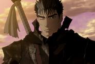 Guts porta la armadura Berserker tras la batalla (anime)