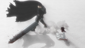 Guts saves Casca