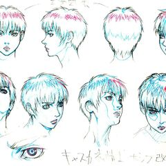 Profile sketches of Casca from various angles for the <a href=