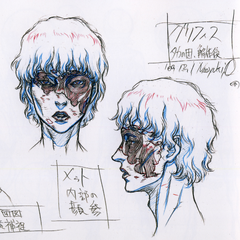 Profile sketches of Griffith's flayed skin for the third film of the <a href=