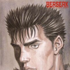 Guts looks ahead. (Vol 2 - illustration card 1)