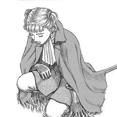Farnese kneels in front of <a href=
