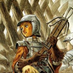 Rickert with a crossbow.
