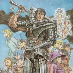 Guts alongside the rest of his traveling party at <a href=