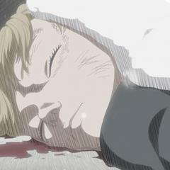Serpico lying beaten in the streets.