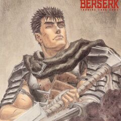 Guts looks up, having fired his cannon prosthetic arm. (Vol 3 - illustration card 1)