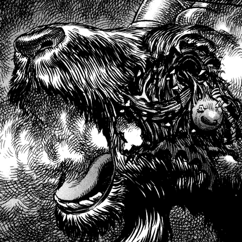 The Great Goat's face horribly mangled by Rickert's bomb.