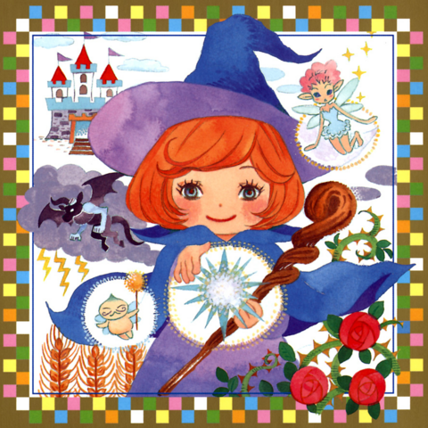 A ginger haired Schierke performs an incantation, surrounded by <a href=