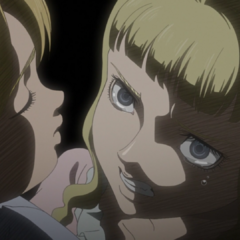 Farnese threatens Serpico to comfort her during a storm.