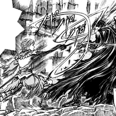 Serpico commences a flurry of attacks against Guts during their first duel.